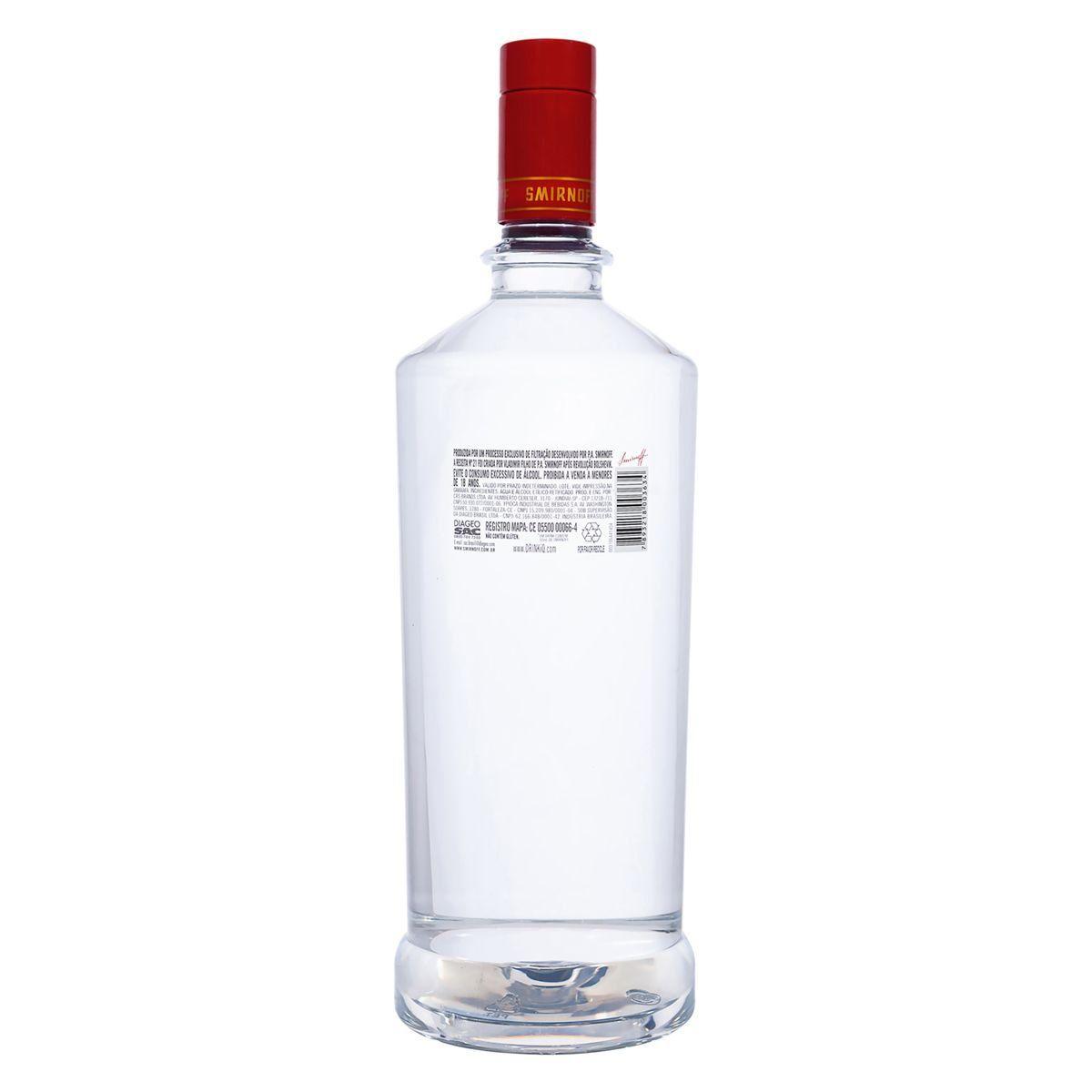 Vodka Smirnoff Red Pet 1,75ml