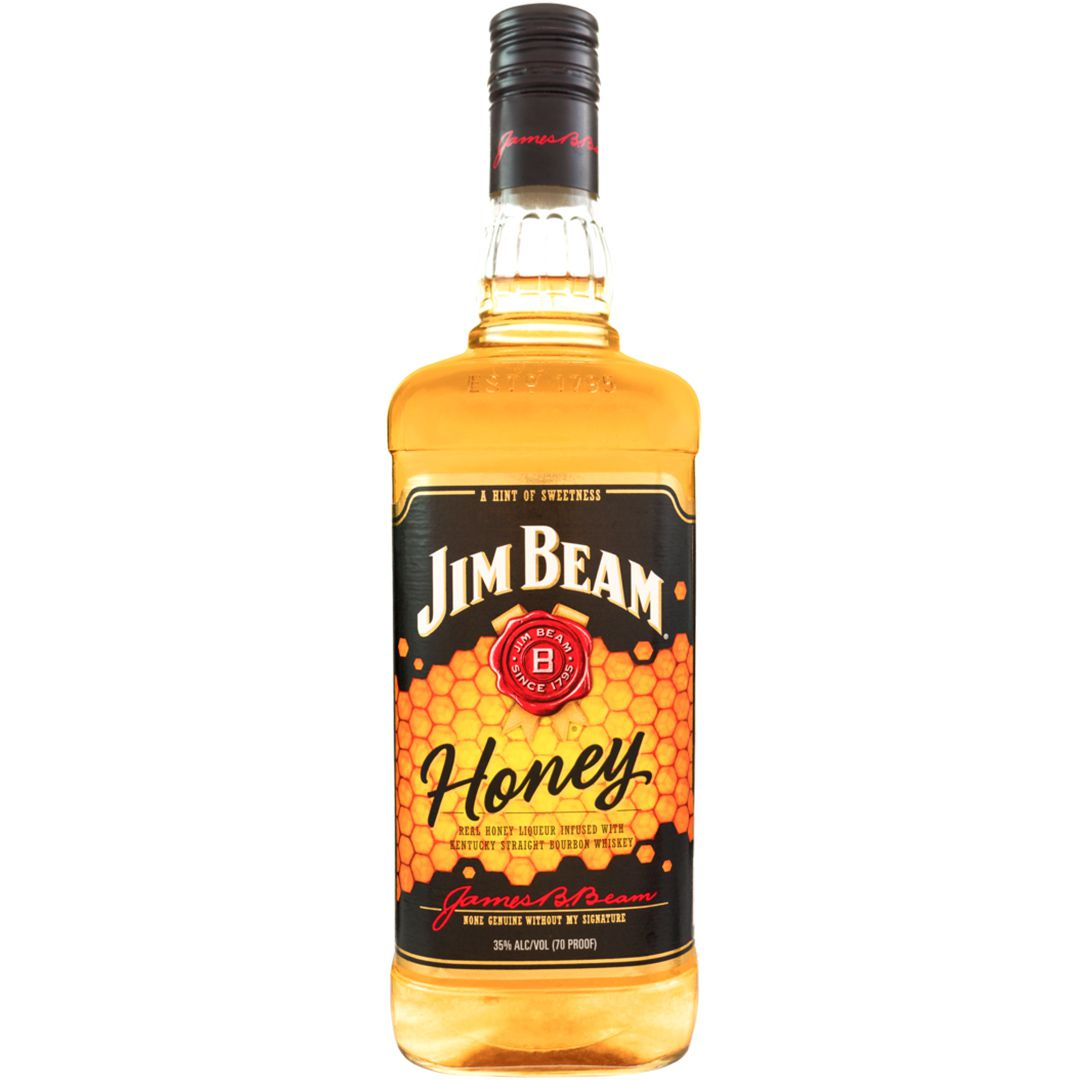 Whiskey Bourbon Jim Beam Honey   1L