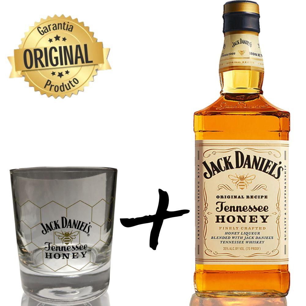 Whisky Jack Daniel's Honey 1L com Copo Honey