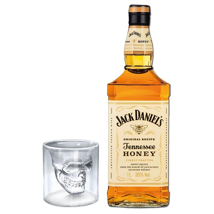 Whisky Jack Daniel's  Honey + Shot Caveira