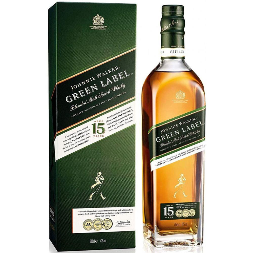 Whisky Johnnie Walker Green Label 750ml