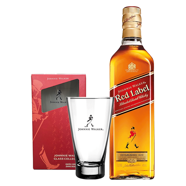 Whisky Red Label + Copo Johnnie