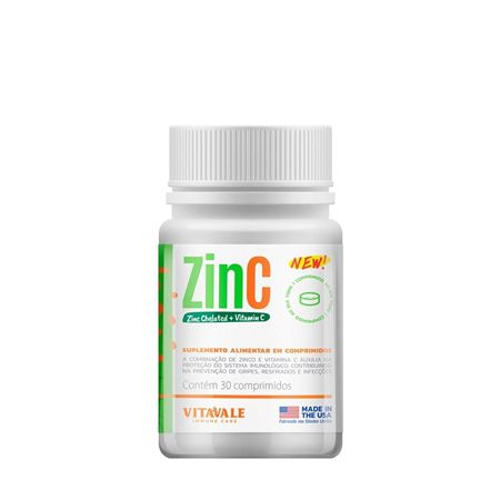 3 Potes Zinco Quelado + Vitamina C   com 90 Cápsulas