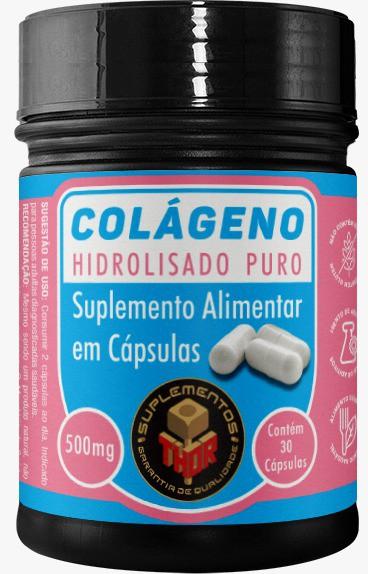Colágeno Hidrolisado 500mg   30 cápsulas