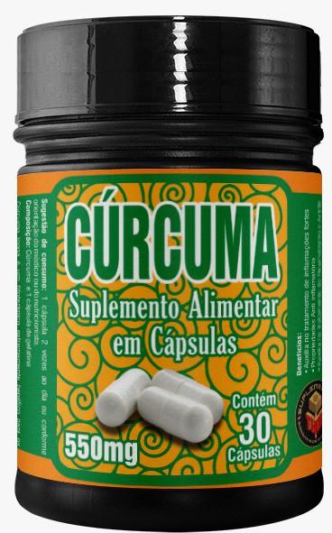 Curcuma 550 mg   30 cápsulas