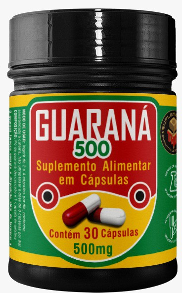 Guaraná 500 mg   30 cápsulas
