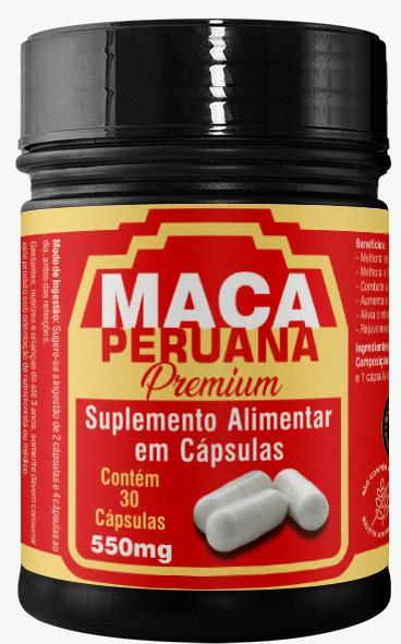 Maca Peruana Premium 500mg   30 cápsulas