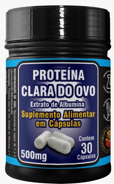 Protéina da Clara do Ovo  500 mg  30 cápsulas