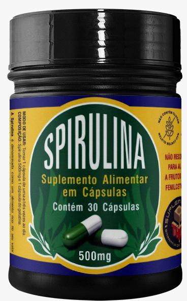 Spirulina 500 mg   30 cápsulas