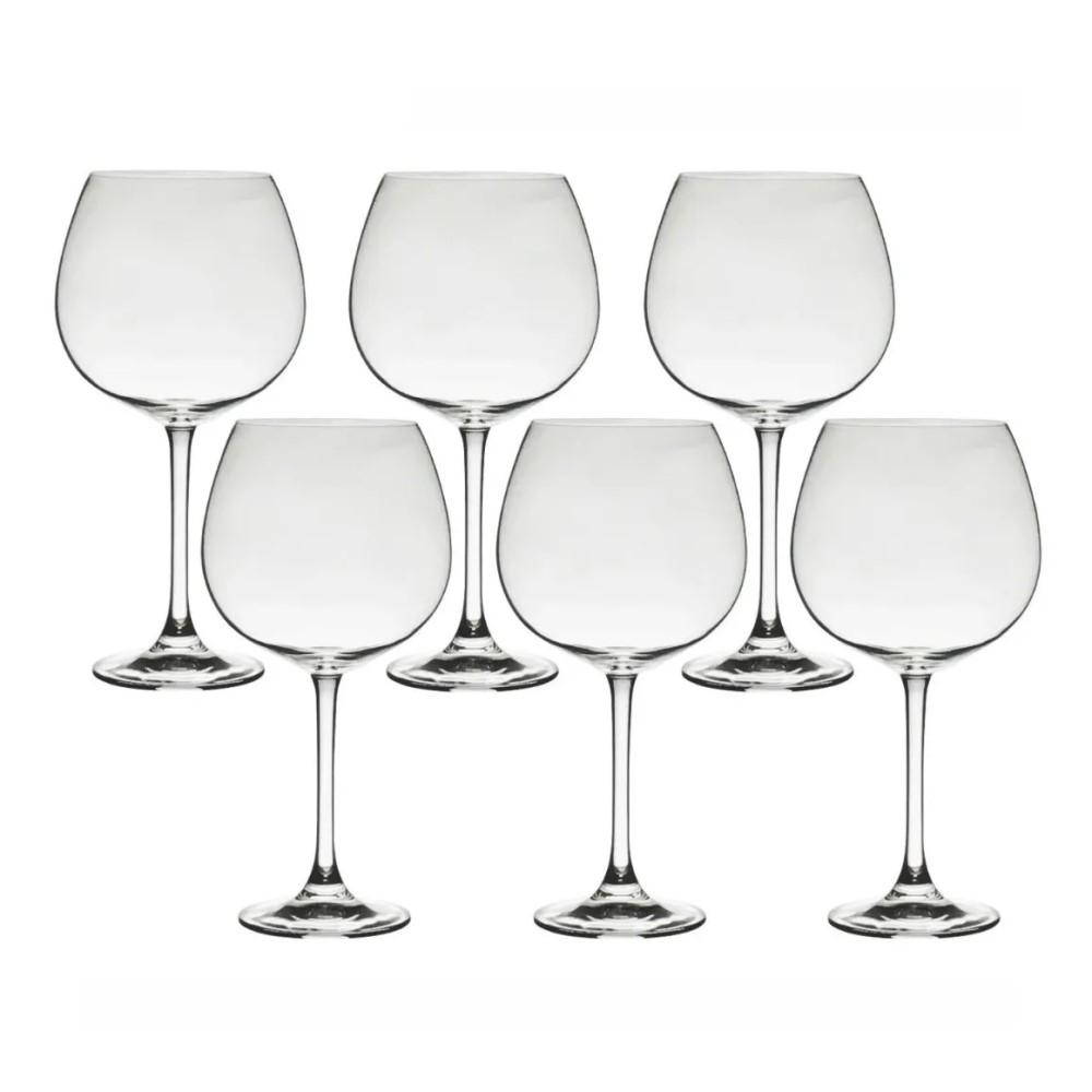 06 Taças em Cristal para Bourgogne ou Gin Flamenco 850mL - Bohemia