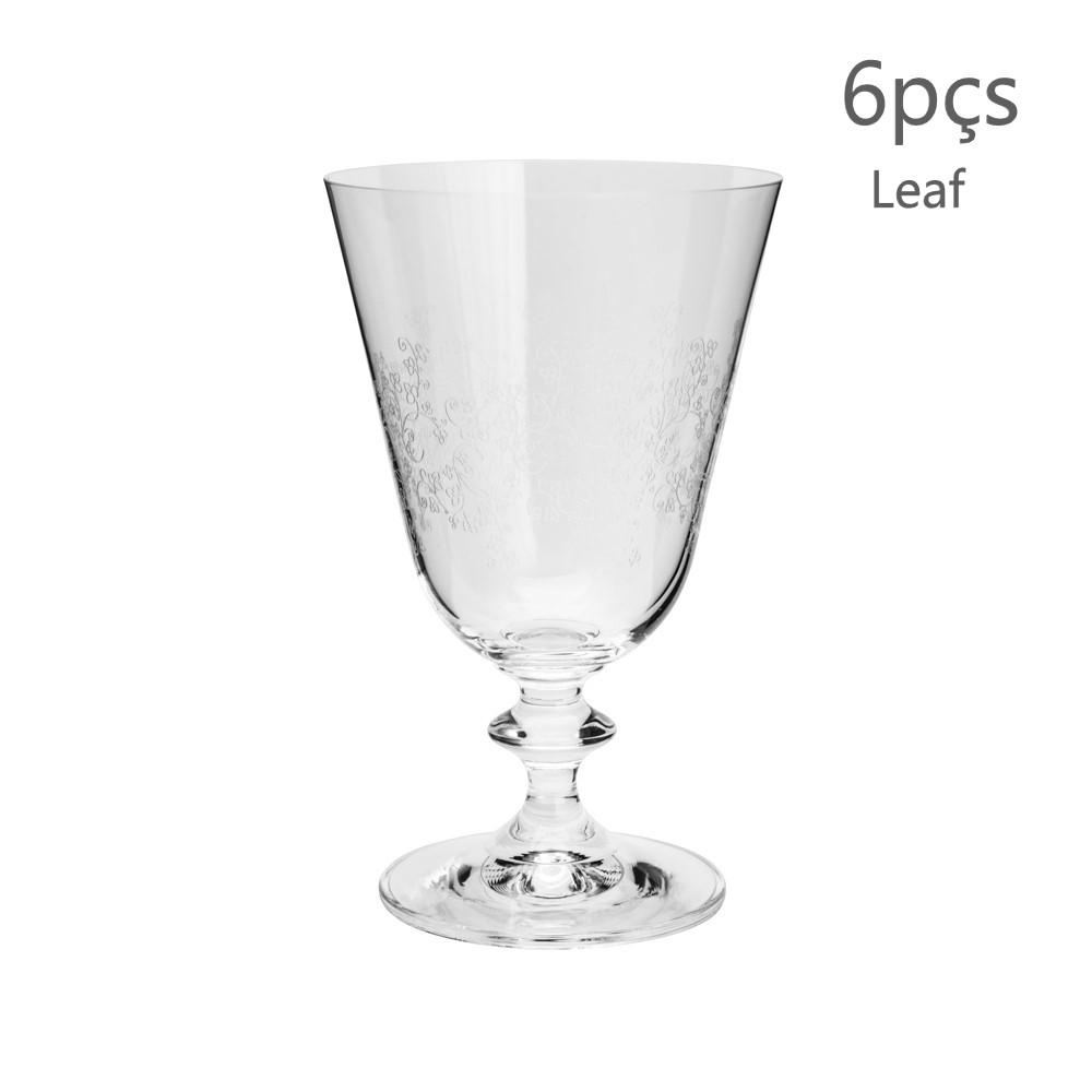 06 Taças pantografadas em Cristal Ecológico Bella 350ml - Bohemia