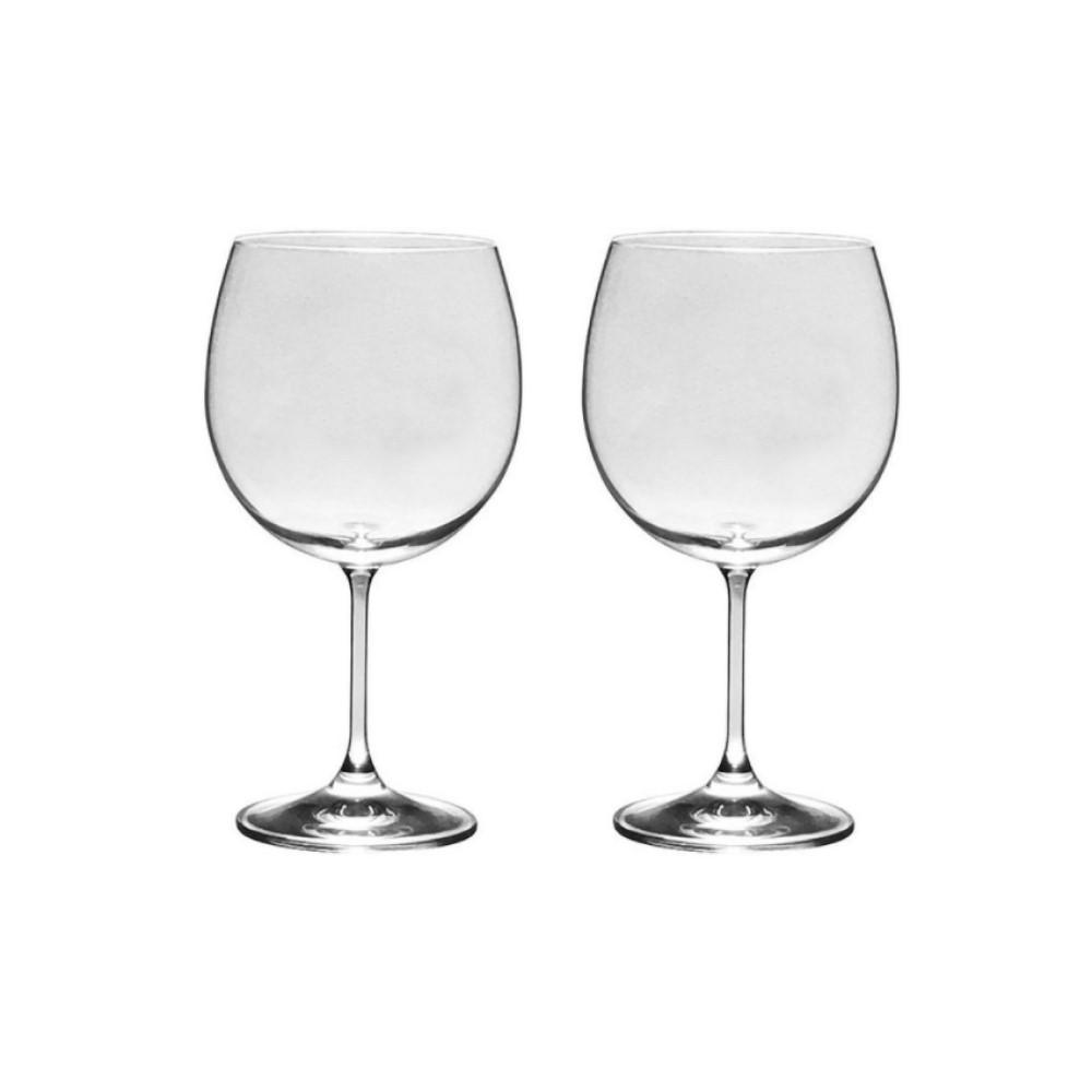 06 Taças Roberta para Bourgogne ou Gin em Cristal Titanium 600mL - Bohemia