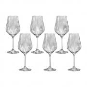 06 Taças Tulipa Optic para Vinho Branco em Cristal Titanium 350mL - Bohemia