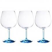 Conjunto 3 Taças de Acrílico para Gin Classic Colorido 690ml Kenya