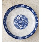 Conjunto 4 Pratos P/Sobremesa De Porcelana Blue Garden 18x3,5cm