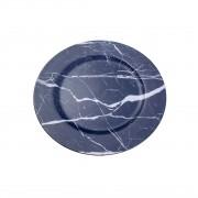 Conjunto 6 Sousplats Plástico Smog Blue 33cm