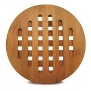 Conjunto de Descanso de travessa redondo em Bambu Tyft 20cm (3 peças)