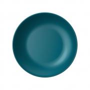 Jogo 06 Pratos Rasos em Cerâmica Esmalte Esmeralda 26cm - Yoi