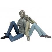 Estatua Casal de Resina 33x13x18,5cm