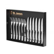 Faqueiro p/ Churrasco Inox Steak Collection Premium  12 Pcs Inox St James