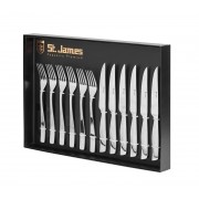 Faqueiro p/ Churrasco 12pçs em Inox Steak Collection Premium - St James