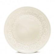 Jogo 6 Pratos de Sobremesa Relieve Branco 20,2cm Yoi