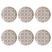 Jogo 6 Pratos Rasos Coup Geometria 27cm - Porto Brasil