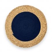 Jogo Americano Redondo Gypsy Azul Marinho 38cm (06 pçs)