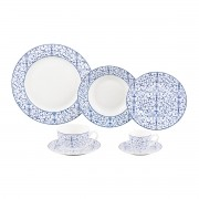 Jogo de Jantar 42pc Porcelana Super White Abstract