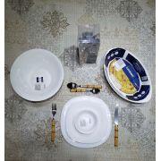 Jogo de Jantar Carine - Vidro Branco Luminarc