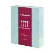 Jogo de Serviço Lace Inox 4 pcs - St James