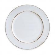 Conjunto 06 Sousplat em Plástico Platinado Opala Branco 33cm