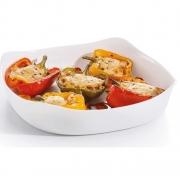 Travessa Quadrada de Vidro Temperado Branco Smart Cuisine Carre (29cm) - Luminarc