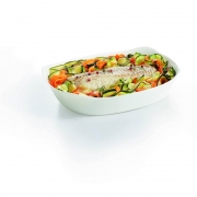 Travessa Retangular de Vidro Temperado Branco Smart Cuisine 29cm - Luminarc