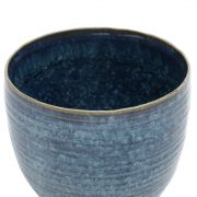 Vaso Decorativo Cerâmica Azul 17x16cm