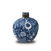 Vaso Decorativo Ceramica Azul 20X17X17