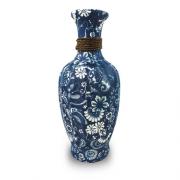 Vaso Decorativo Ceramica Azul 33X16X16
