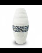 Vaso Decorativo em Cerâmica Branco Floral 17x31cm - Nakine