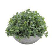 Vaso Oval com Planta Artificial