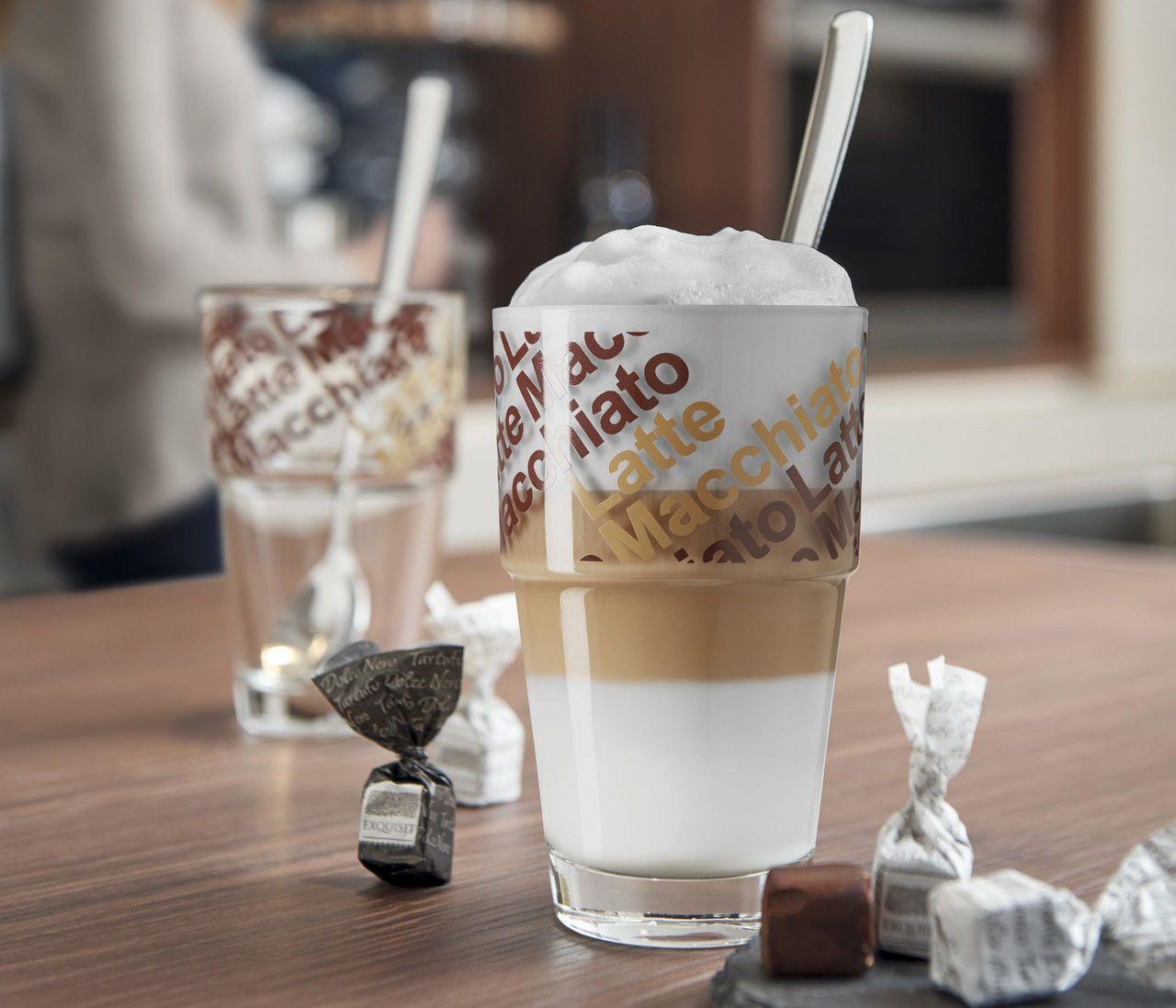 2 Copos Café Latte 410ml com Colher Solo