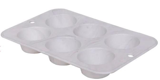 2 Formas Em Silicone Kenya Marble - Muffins (28cm)
