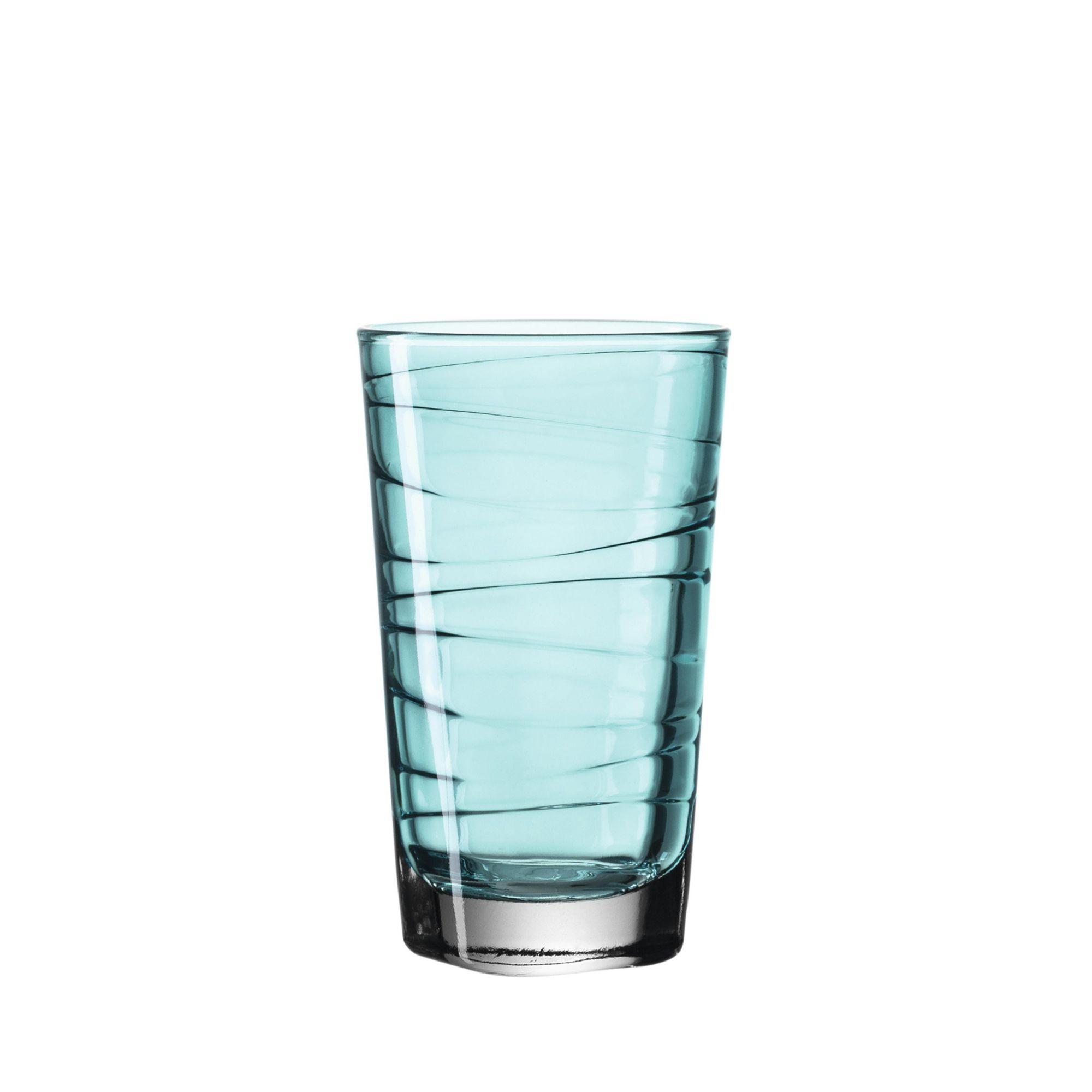Conjunto de 6 Copos Long Drink Vario Turquesa 280ml