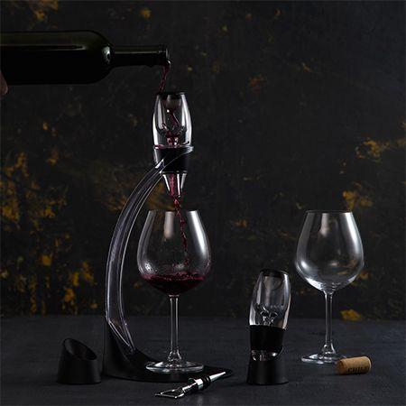 Aerador Acrílico para Vinho 4pc