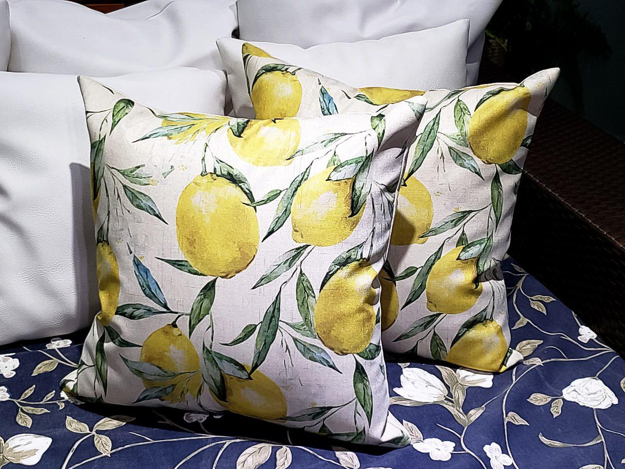 Almofada Estampada Limão Siciliano 50X50 cm