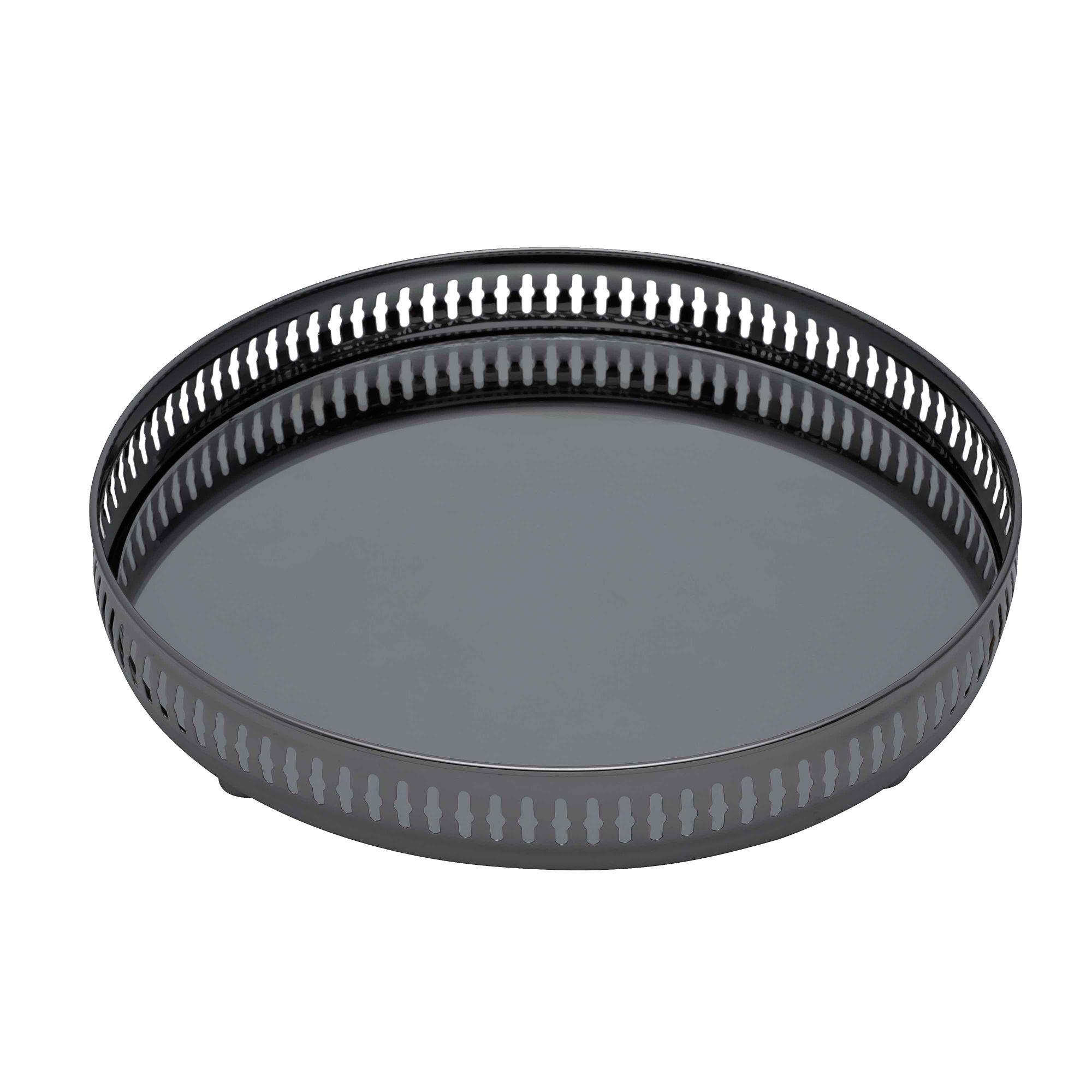 Bandeja Black C/Espelho Gallery 50cm