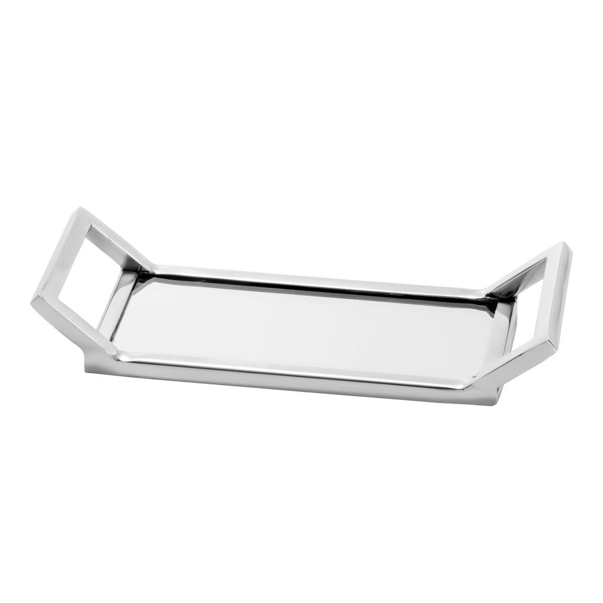 Bandeja De Aço Inox C/Espelho Mirror 27,5x10,5cm