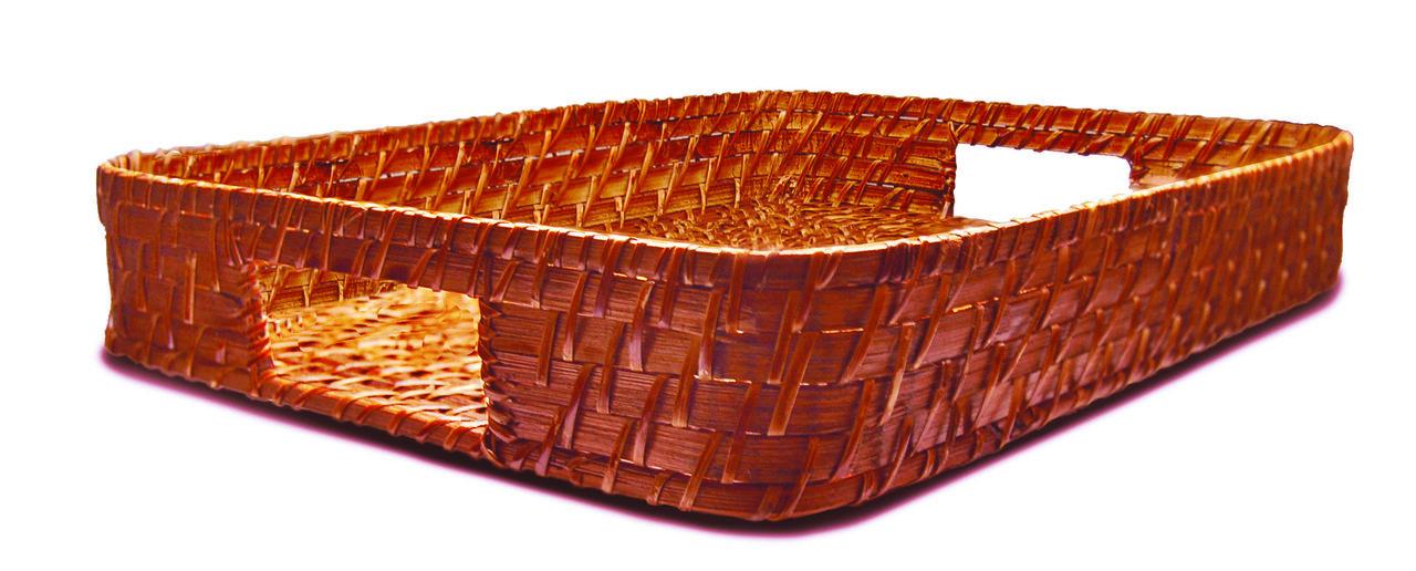 Bandeja de Rattan Retangular 30X40X6,5cm - Tyft Organic