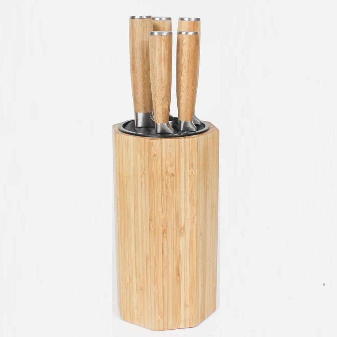 Suporte para facas em Bambu (não Inclusas)