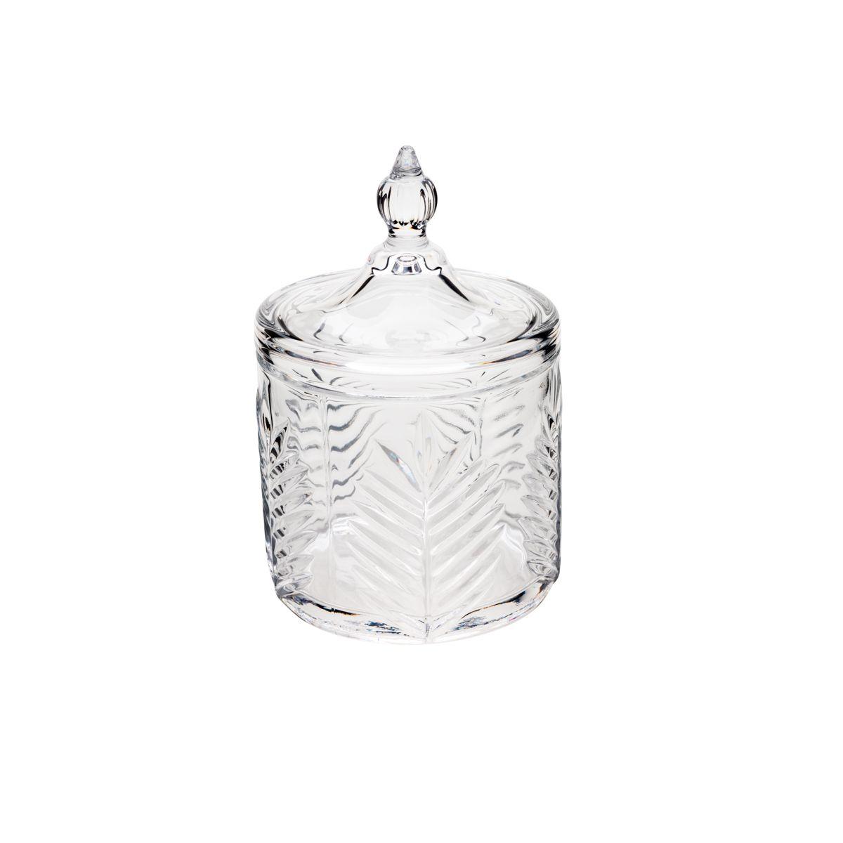 Bomboniere de Cristal De Chumbo Charlotte Palmeira   10x15,5cm