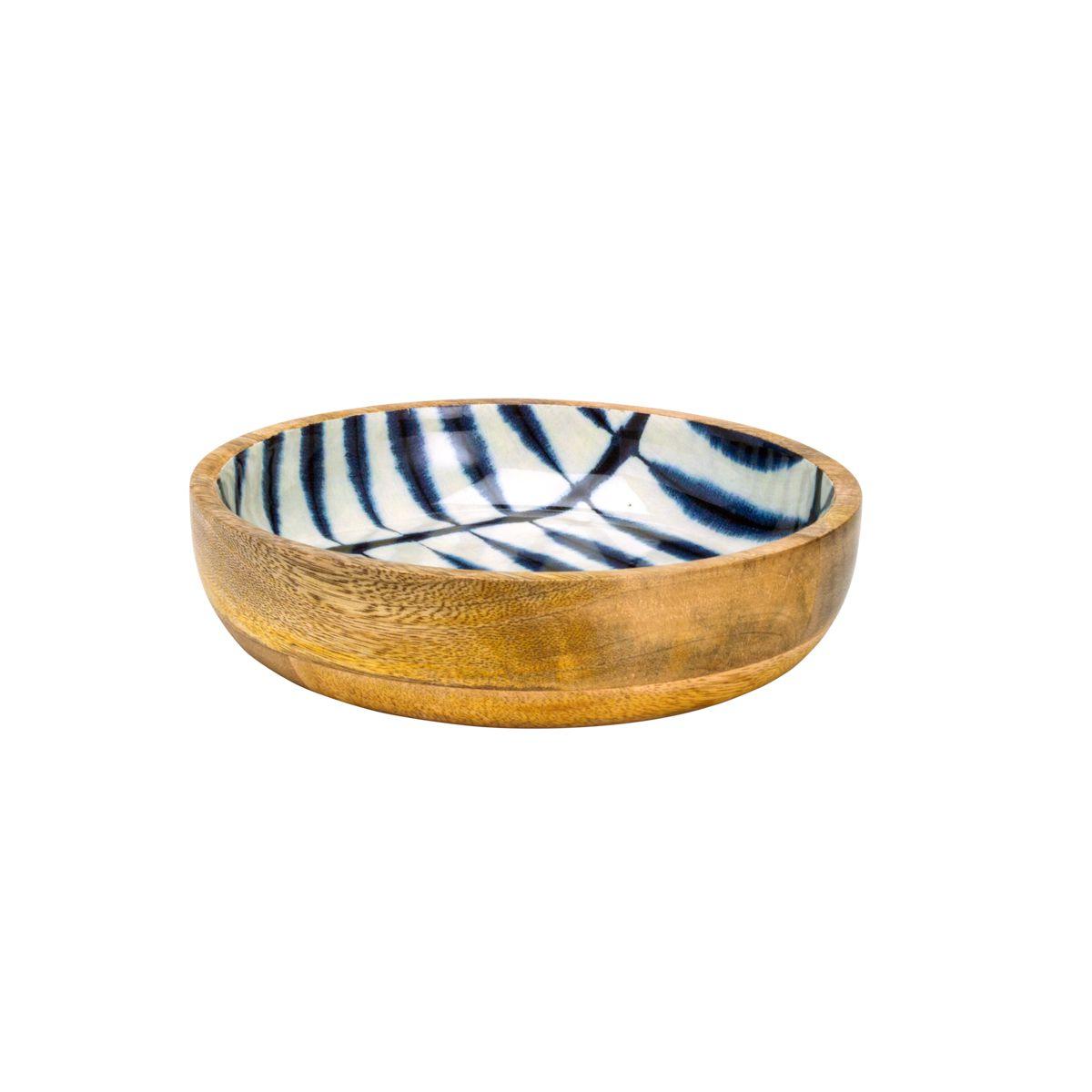 Bowl de Madeira Blue 20x5cm